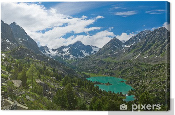 Obraz na płótnie Górskie jezioro - Azja