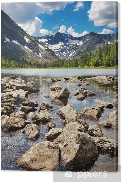 Obraz na płótnie Górskie jezioro - Woda