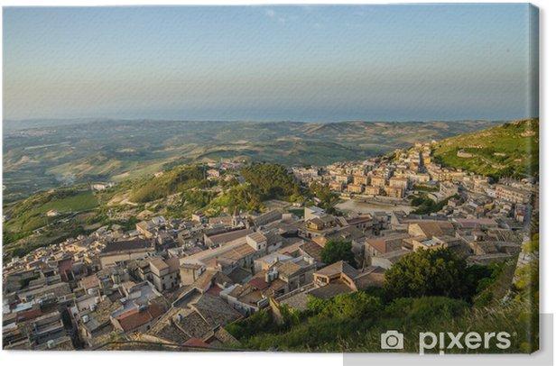 Obraz na płótnie Górskie miasteczko Caltabellotta (Sycylia, Włochy) w godzinach porannych - Europa