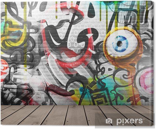Obraz na płótnie Graffiti na ścianie -