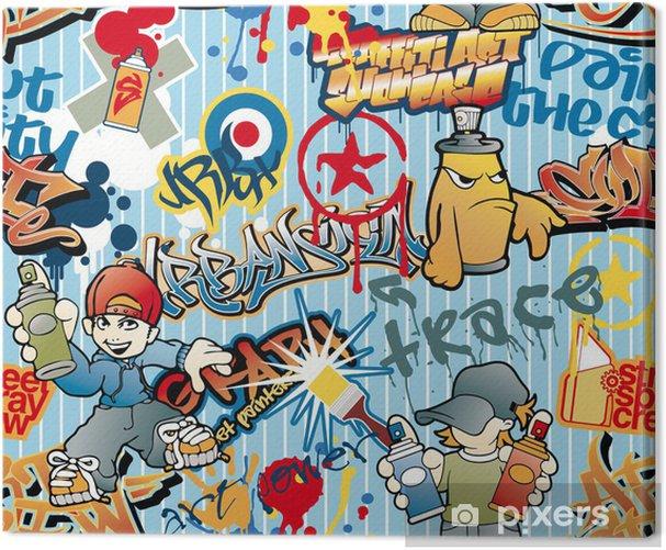 Obraz na płótnie Graffiti, powtarzalne wektor wzorca - Tematy