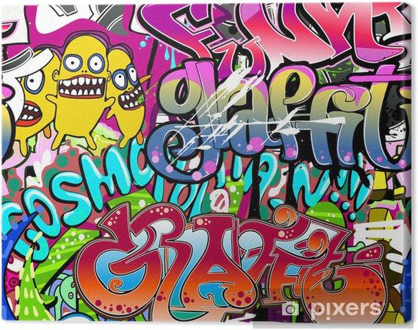 Obraz na płótnie Graffiti ściany. tła miejskiego sztuki wektor. powtarzalne tekstury - Tematy