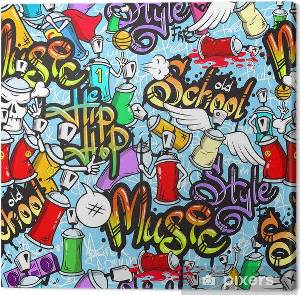 Obraz na płótnie Graffiti znaków powtarzalne - Tematy