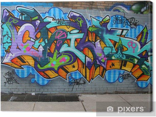 Obraz na płótnie Graffiti - Pejzaż miejski