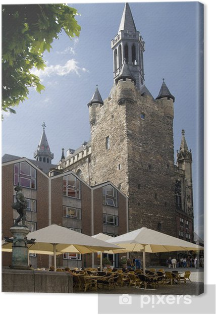 Obraz na płótnie Granusturm Aachen City Hall - Wakacje