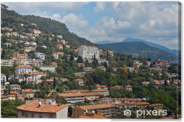 Obraz na płótnie Grasse - Panoramiczny widok z Grasse Miasta - Europa