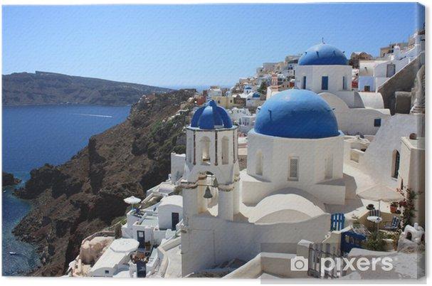 Obraz na płótnie Grecja - Santorini (kościół w Oia) - Europa