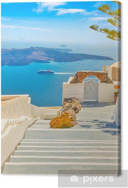 Obraz na płótnie Grecja Santorini wyspa w archipelagu Cyklady, tradycyjne zabytki kolorze - Tematy