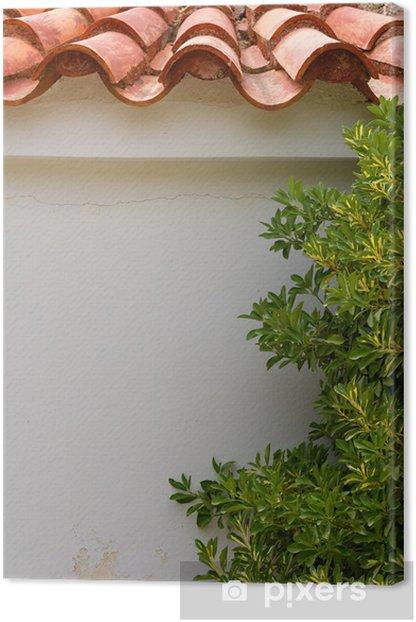 Obraz na płótnie Grecja. ściana z drzewa oliwnego i płytek - Europa
