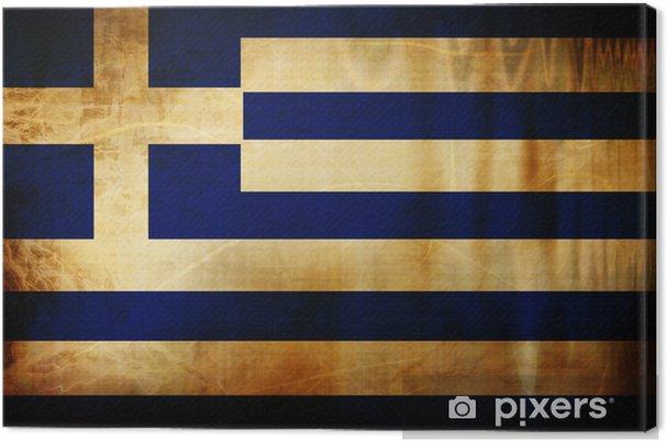 Obraz na płótnie Grecką banderą -