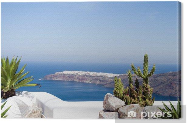 Obraz na płótnie Grecka wyspa Śródziemnego view santorini - Santorini