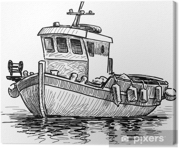 Obraz na płótnie Grecki kuter. - Transport wodny