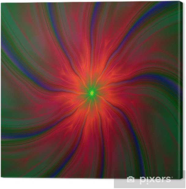 Obraz na płótnie Green Eyed Red Swirl - Abstrakcja