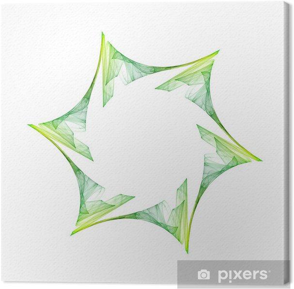 Obraz na płótnie Green Star - Tła