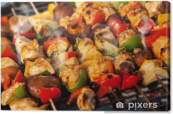Obraz na płótnie Grill szaszłyk kebab barbecuing - Mięso