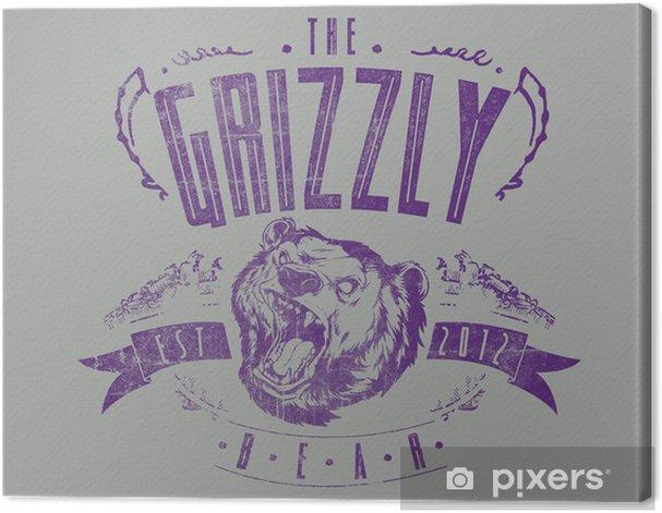 Obraz na płótnie Grizzly Bear - Znaki i symbole