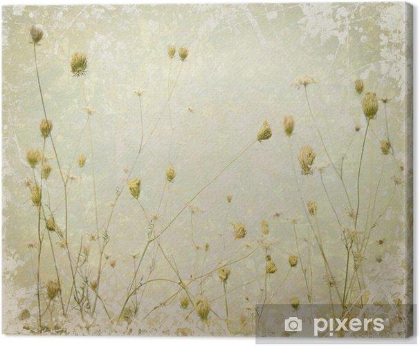 Obraz na płótnie Grunge Flower Meadow Pale sztuka tło - Dom i ogród
