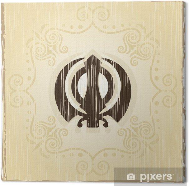 Obraz na płótnie Grunge I Onkar, Khanda święty motyw - Religie
