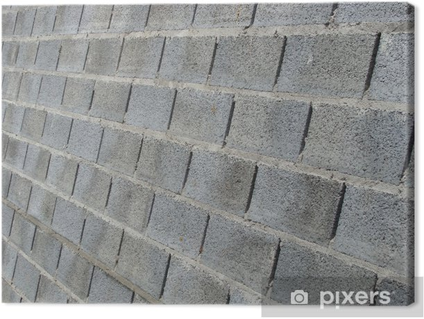 Obraz na płótnie Grunge ściany z niebieskim szary blok betonu kamienia - Zabytki
