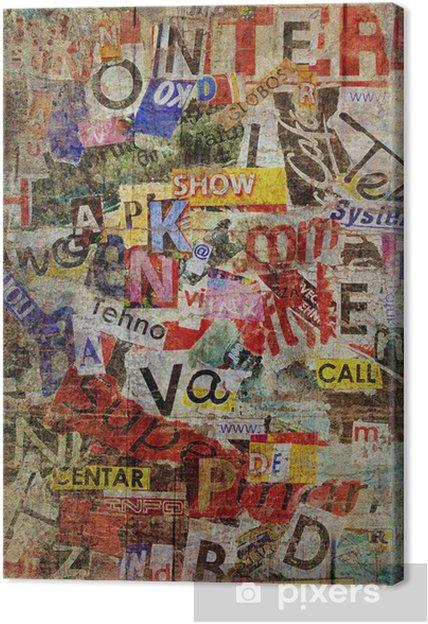 Obraz na płótnie Grunge teksturowanej tle - Tematy