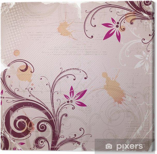Obraz na płótnie Grunge tła z kwiatów elementu - Tła