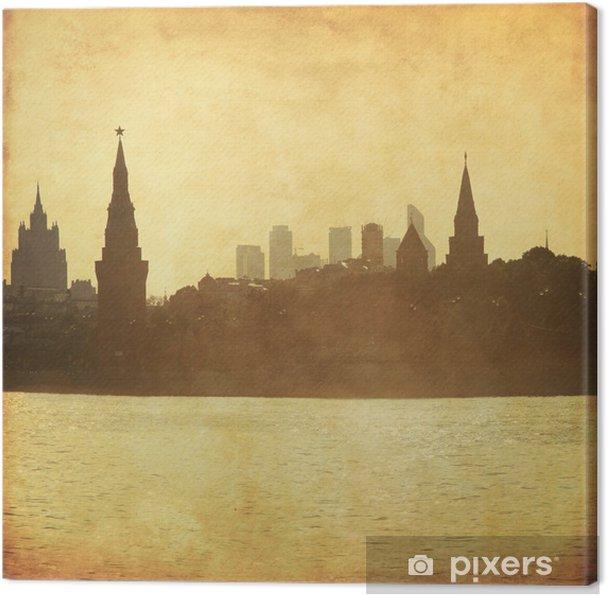 Obraz na płótnie Grungy obraz Moskwy pejzaż. - Miasta azjatyckie