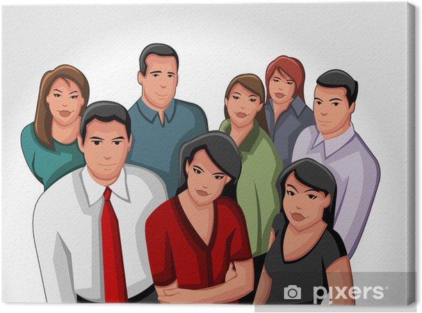 Obraz na płótnie Grupa ludzi biznesowych i biurowych, - Grupy i tłumy