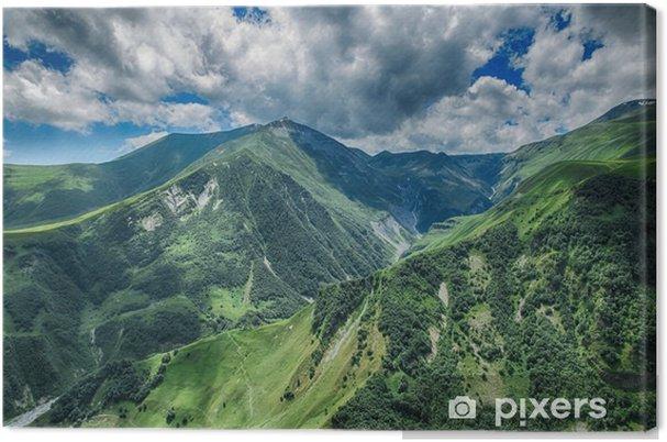 Obraz na płótnie Gruzja góra krajobraz natura piękny letni Kazbegi - Krajobrazy