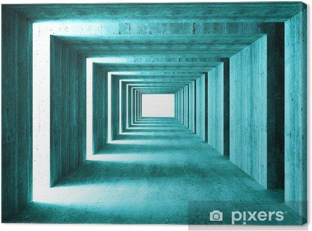 Obraz na płótnie Grzywny obrazu 3D tunelu tle streszczenie concretet - iStaging