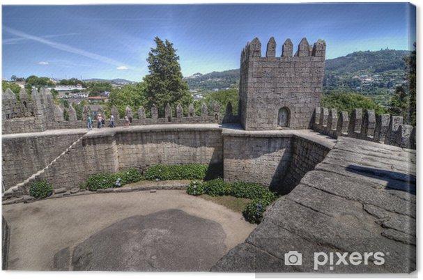 Obraz na płótnie Guimarães Castle Walls, Portugalia. - Europa