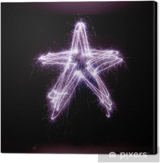 Obraz na płótnie Gwiazda Betlejemska wykonany z zimnych ogni. - Święta międzynarodowe