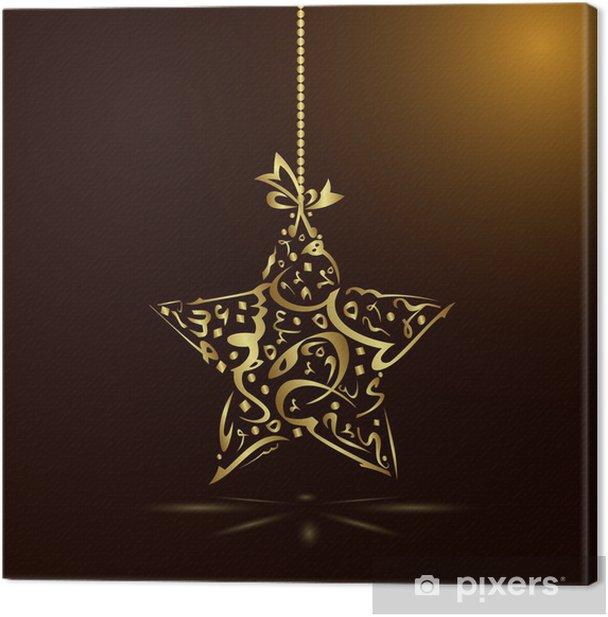 Obraz na płótnie Gwiazda kaligrafia - Religie