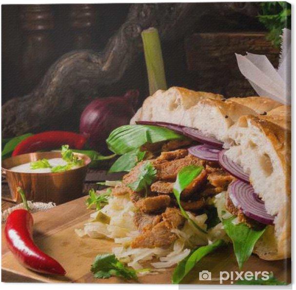 Obraz na płótnie Gyros pita z dzikim czosnkiem - Jedzenie