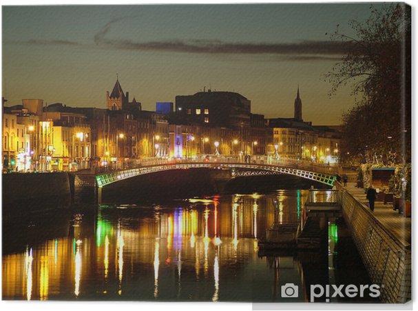 Obraz na płótnie Ha'penny Bridge, Dublin - Woda