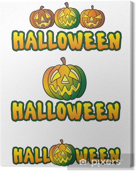 Obraz na płótnie Halloween 3 logo - Święta międzynarodowe