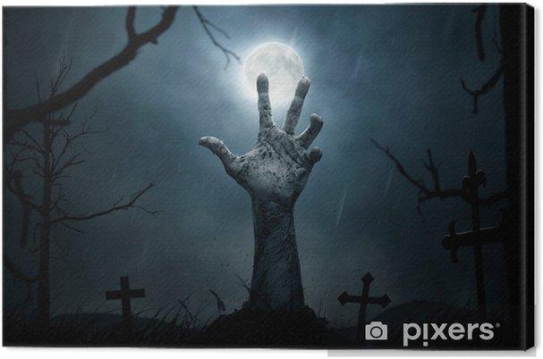 Obraz na płótnie Halloween, martwa ręka wychodzi z ziemi - Tematy