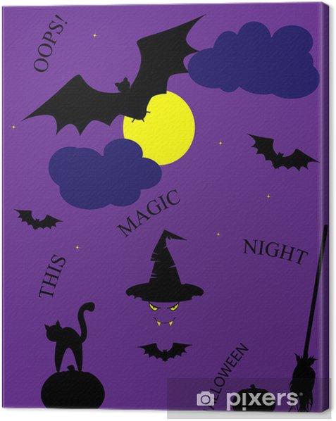 Obraz na płótnie Halloween pocztówka - Rozrywka