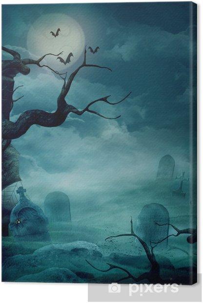 Obraz na płótnie Halloween tła - Spooky cmentarz - Religia i kultura