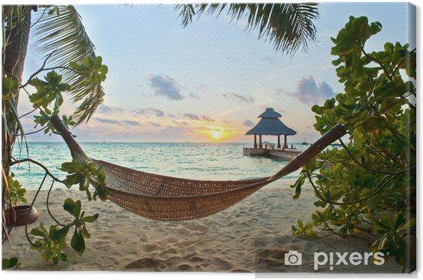 Obraz na płótnie Hamak na plaży - iStaging