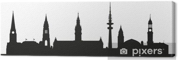 Obraz na płótnie Hamburga punkt (sylwetka) - Wakacje