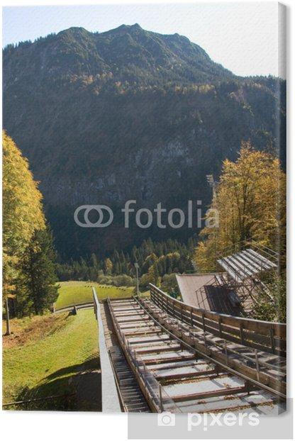Obraz na płótnie Heini Klopfer skocznia - Oberstdorf - Niemcy - Europa