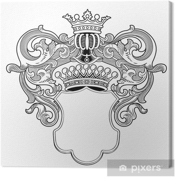 Obraz na płótnie Heraldic frame - Znaki i symbole