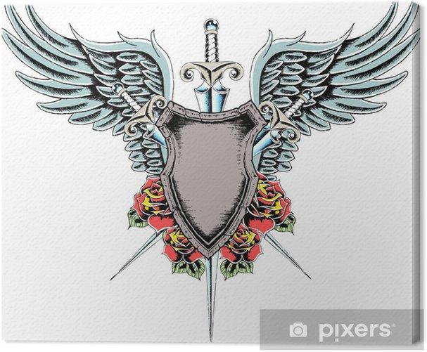 Obraz na płótnie Heraldyczny tarcza odznaka royal - Tematy