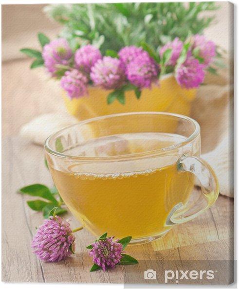 Obraz na płótnie Herbata ziołowa koniczyna - Gorące napoje