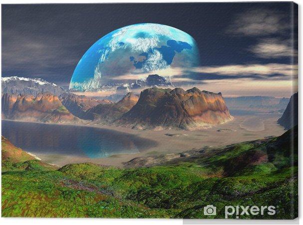 Obraz na płótnie Hidden Cove na odległej planecie - Przestrzeń kosmiczna