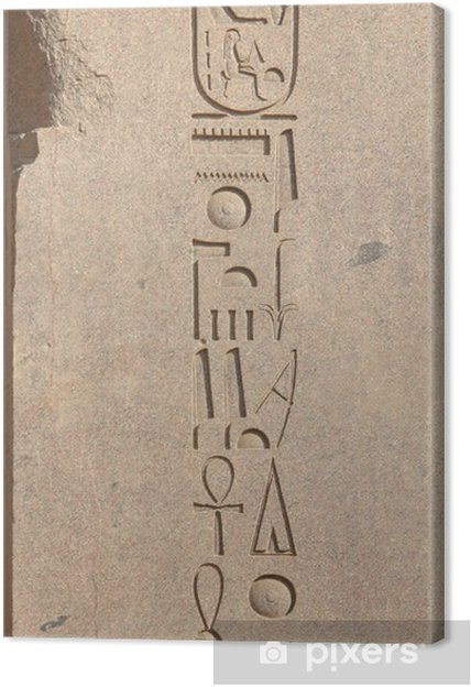 Obraz na płótnie Hieroglify na posterunek Amona-Re - Znaki i symbole