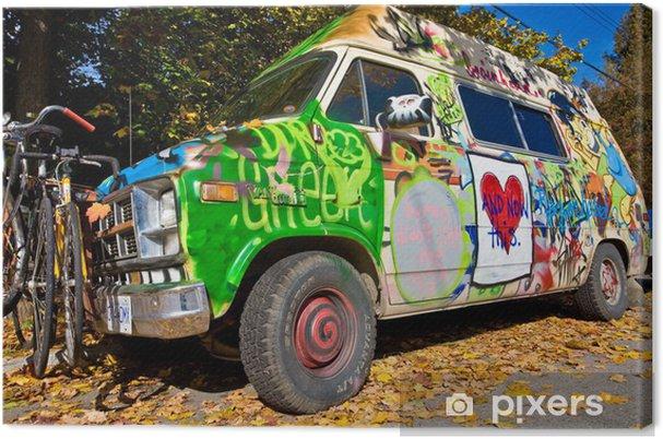 Obraz na płótnie Hippy Van - Transport drogowy