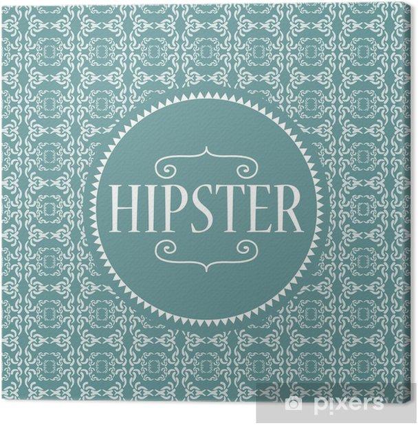 Obraz na płótnie Hipster karty wzorów - Tła