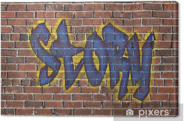 Obraz na płótnie Historia słowo jako graffiti - Sztuka i twórczość