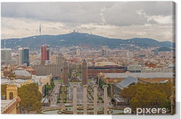 Obraz na płótnie Hiszpania Plaza, Barcelona, Hiszpania. - Tematy
